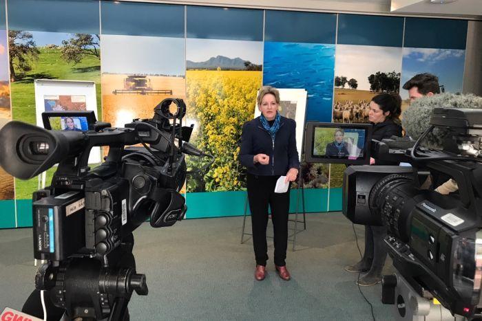 Media announcement Albany WA. Photo Ben Gubana, ABC