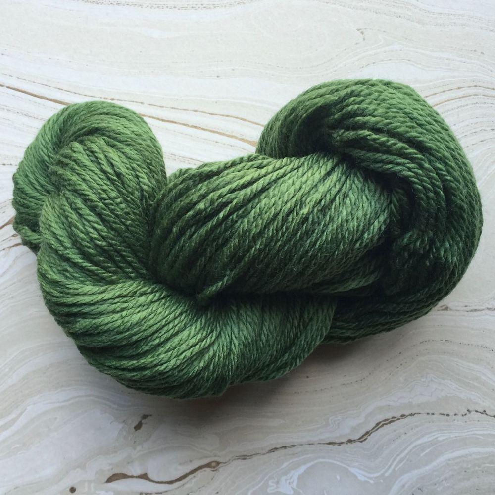 Custom dyed merino wool, aran weight