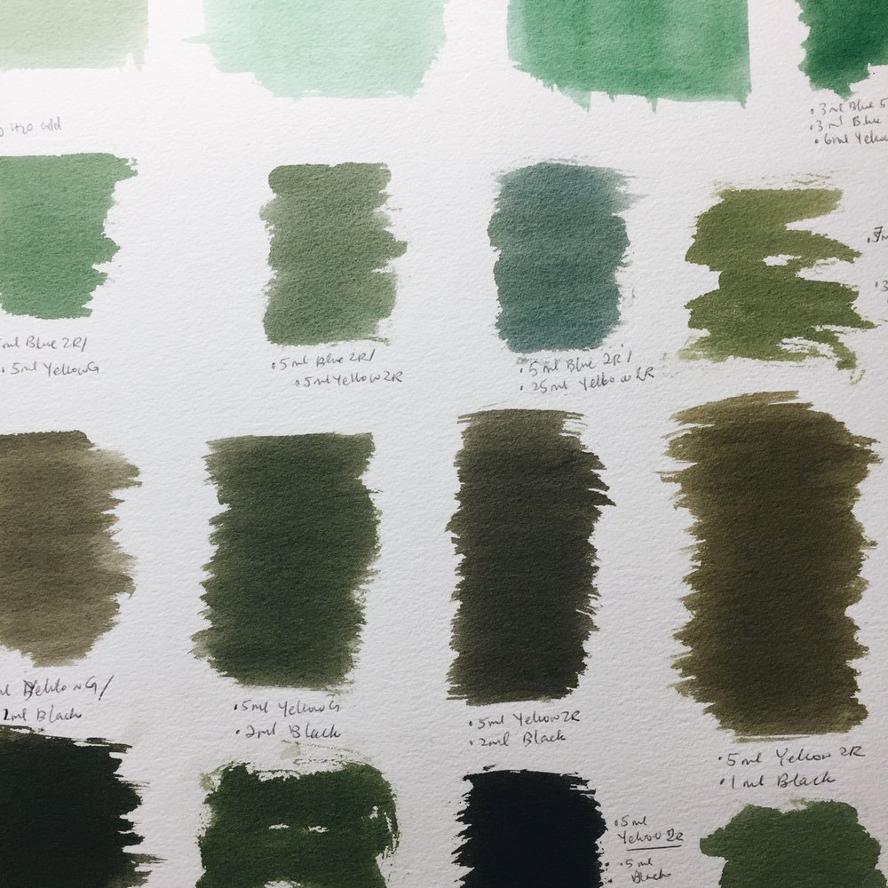 Making green swatches