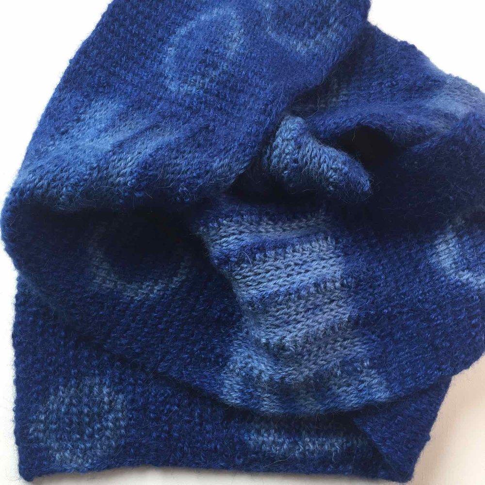 Twice dyed alpaca fabric