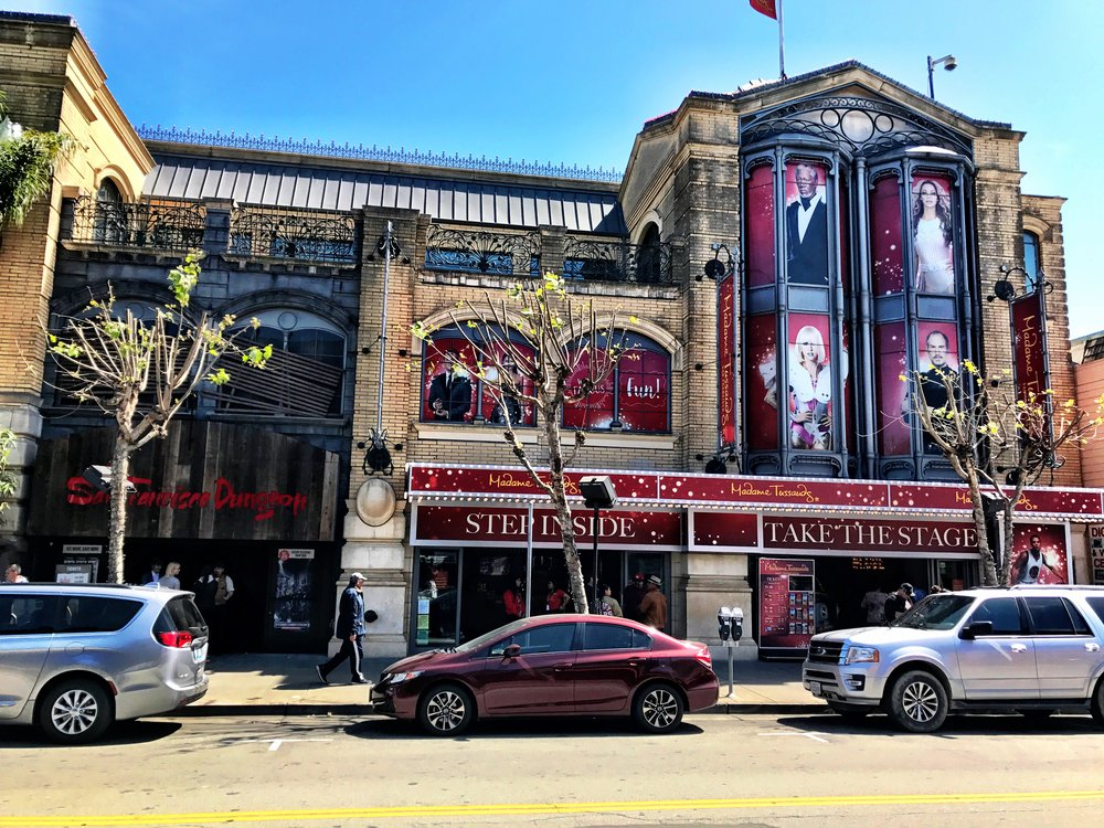 The front of Madame Tussauds & The San Francisco Dungeon, Fisherman's Wharf SF
