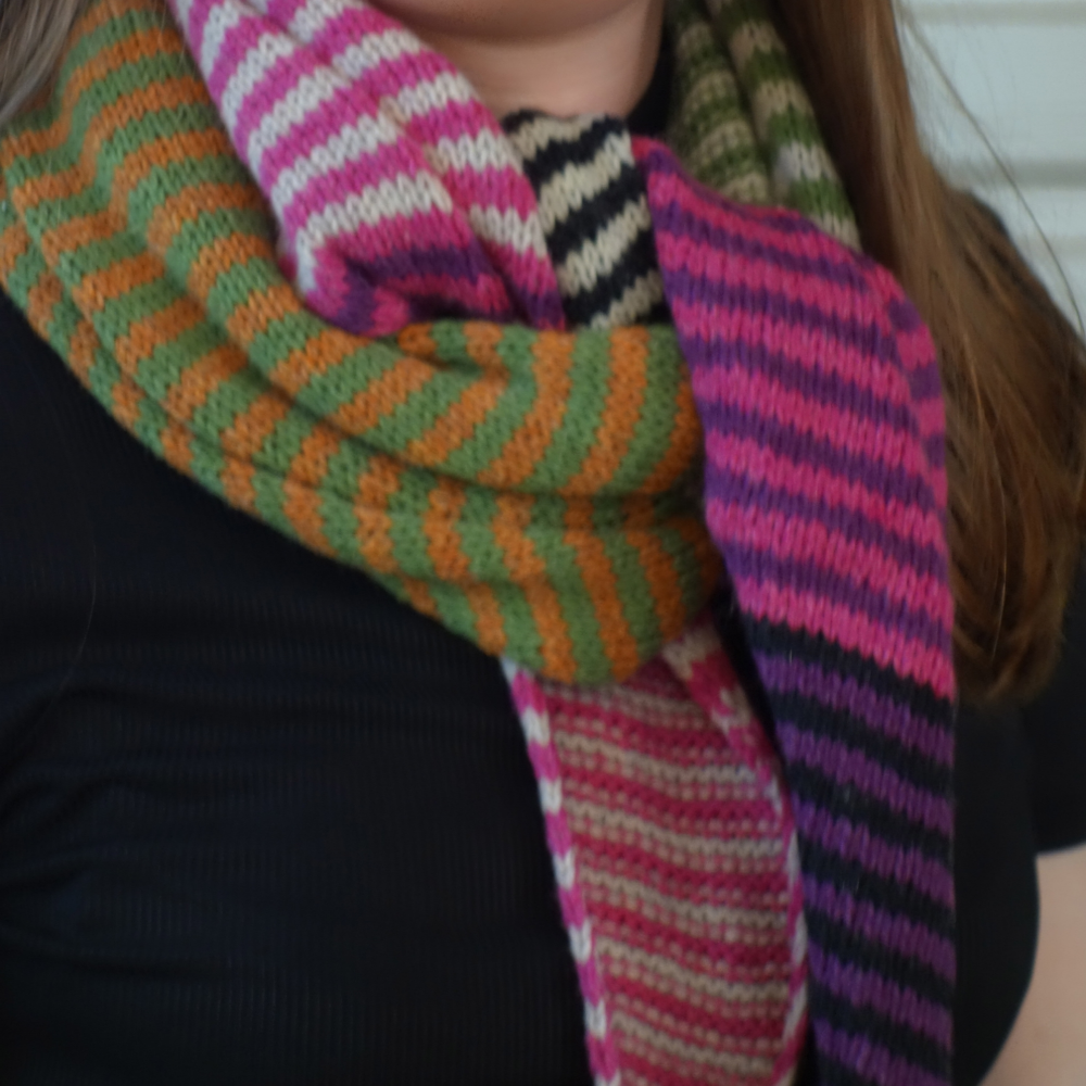 Stripy Triangle Scarf