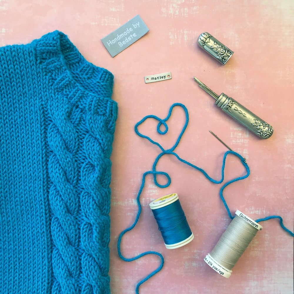 Marley's Blue Cables Jumper
