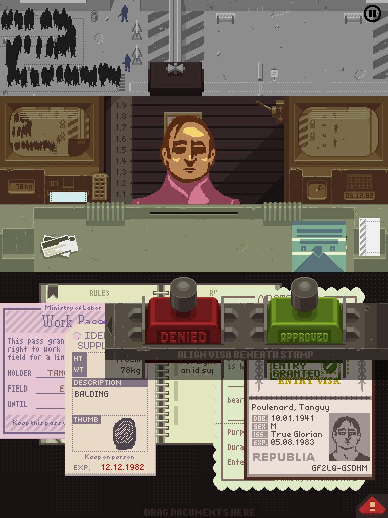 Con una estética retro y una muy buena historia, «Papers, Please» es un juego muy recomendable.