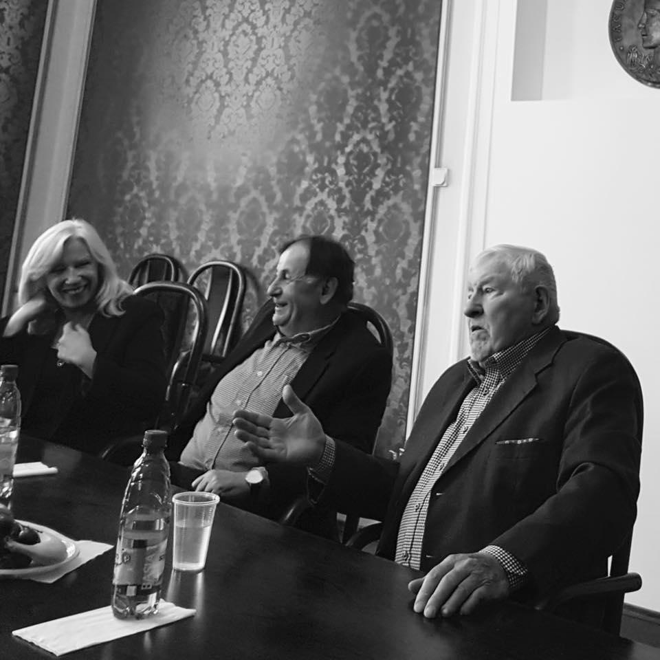 Zľava: Miroslav Kusý, Michael Žantovský a Iveta Radičová. Diskusia Havel: tu a teraz, 15/03/17
