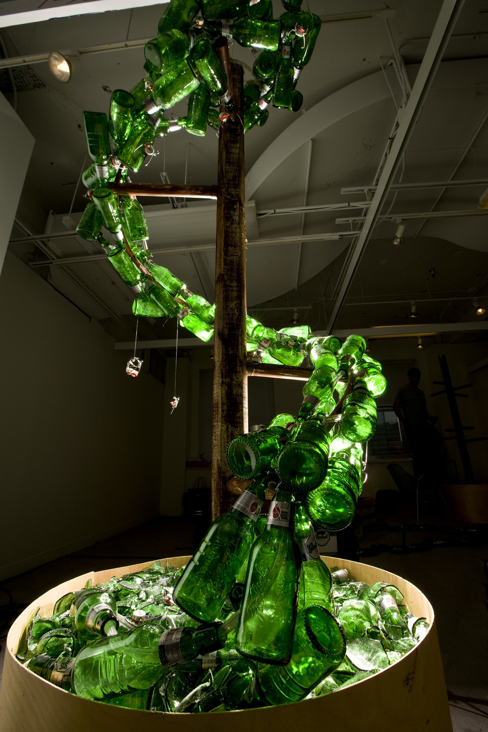 Grolsch- NEXT Art Fair- Glass Bottle Spiral Topiary by Bill Hess.jpg