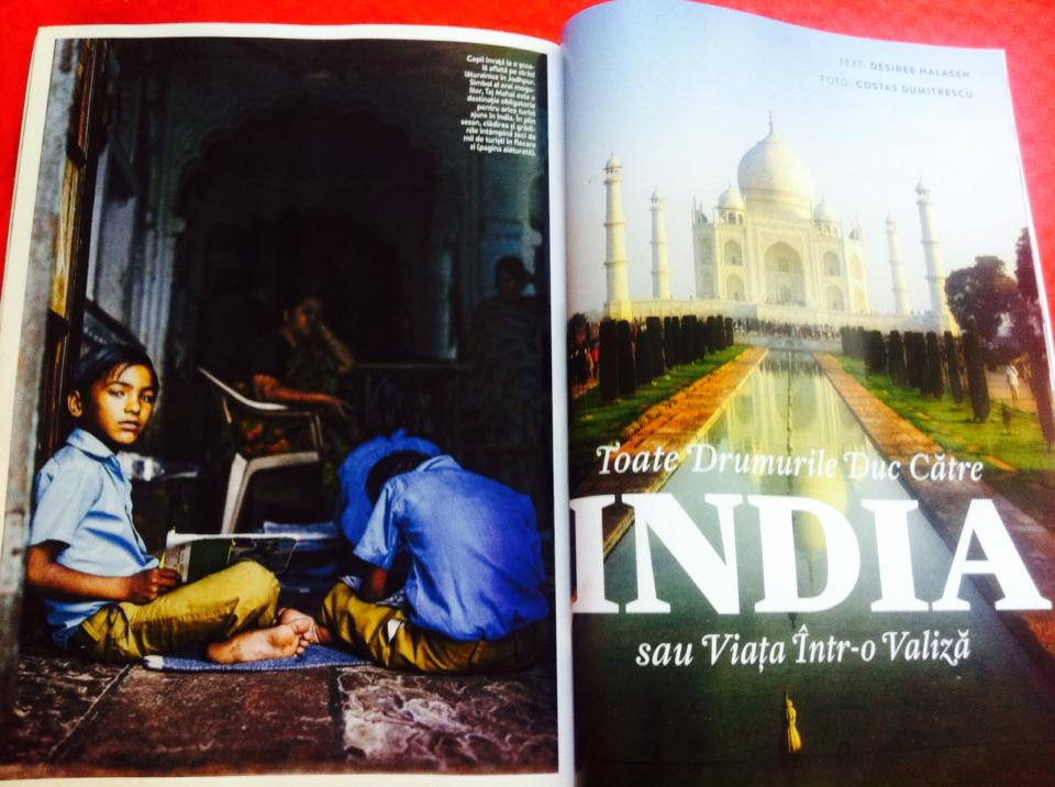 Toate drumurile duc catre India. Septembrie-noiembrie 2014 National Geographic Traveler