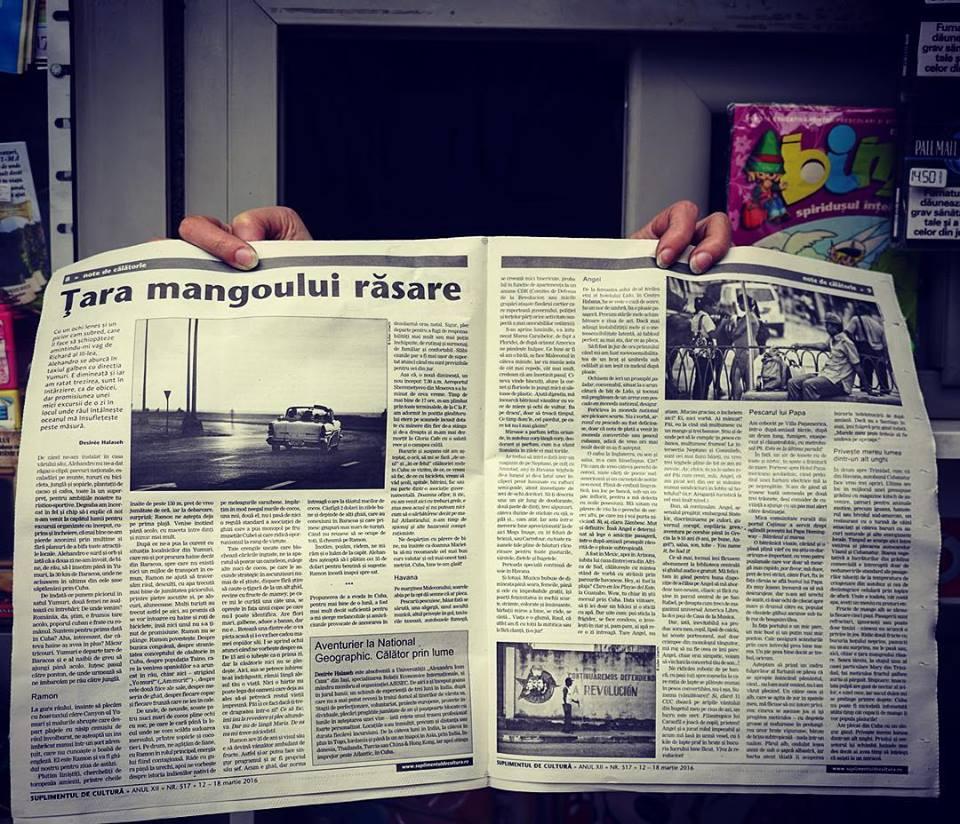 Țara mangoului răsare, suplimentul de cultură, martie 2016