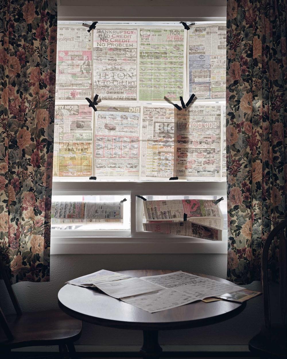 Jack Latham - Newspaper covered windows, Oregon, 2012.jpg