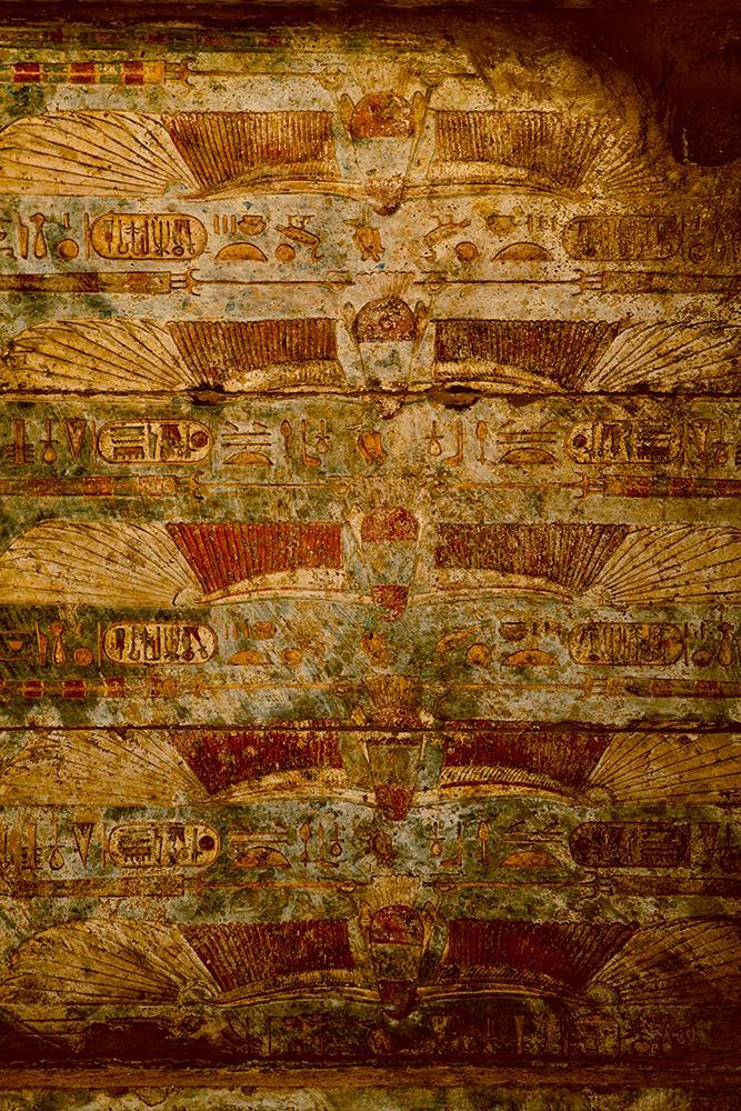 Karnak temple ceiling image