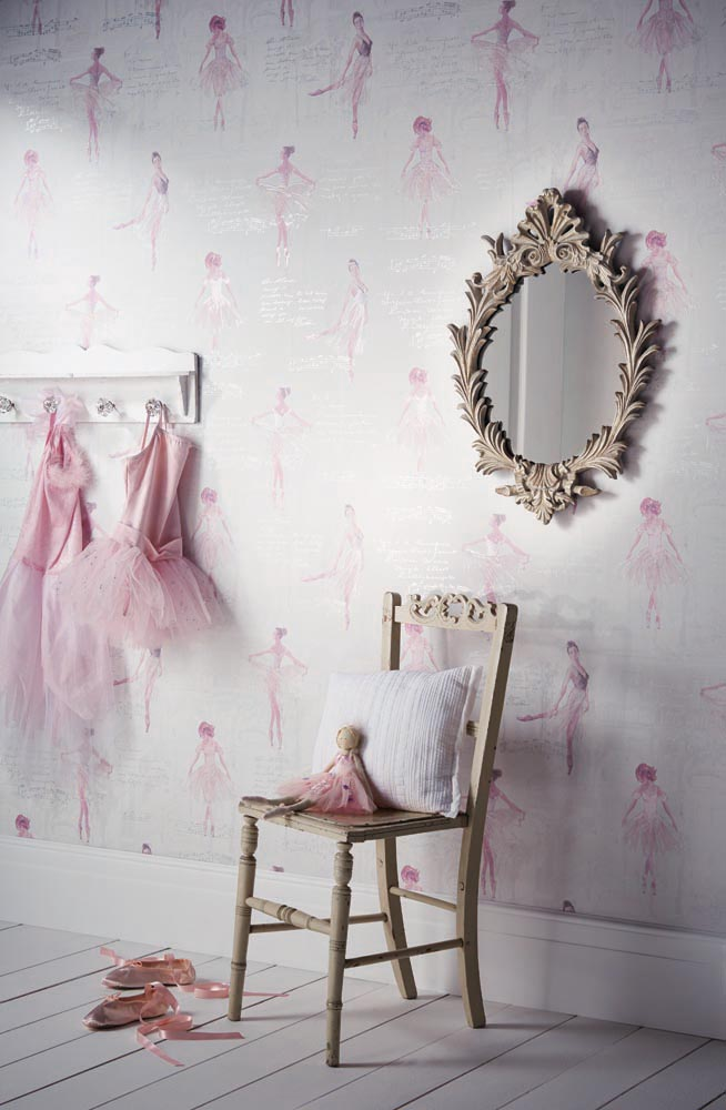 Sanderson abracazoo fairy castle wallpaper home for Home decor hull limited