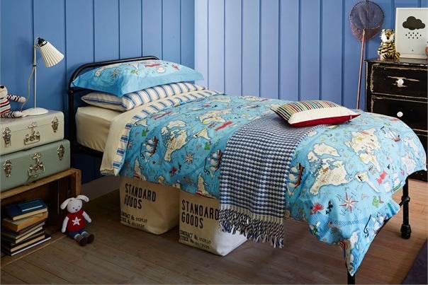 Bedding - Little Sanderson Treasure Map Single Duvet Set