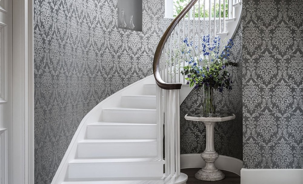 Matching Wallpaper - Sanderson - Riverside Damask