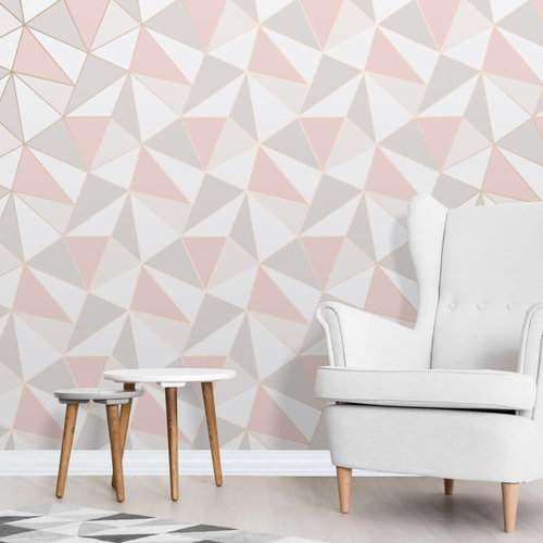 Apex Rose Gold Geo Wallpaper By Fine Decor Home Decor Hull Limited