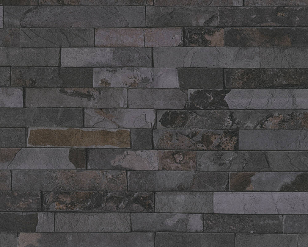 Dark Grey Slate Effect Textured Wallpaper Home Decor Hull Limited