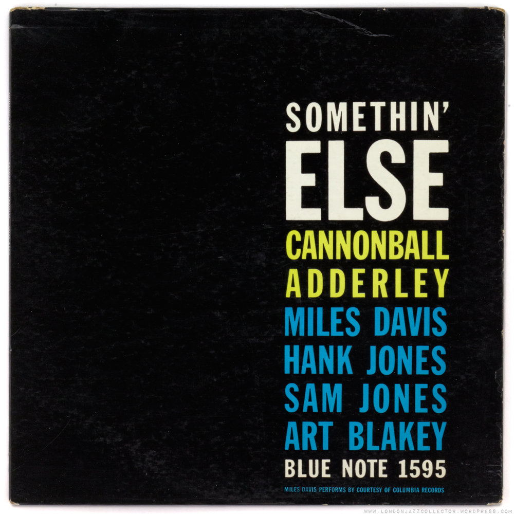 CANNONBALL ADDERLEY - SOMETHIN' ELSE (BLUE NOTE, 1958)