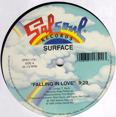 SURFACE - FALLING IN LOVE (SALSOUL RECORDS, 1983)