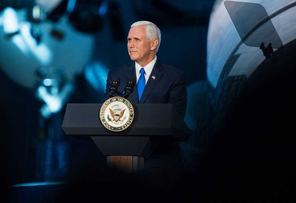 NASA picture from National Space Council meeting: https://www.nasa.gov/press-release/nasa-statement-on-national-space-council-policy-for-future-american-leadership-in