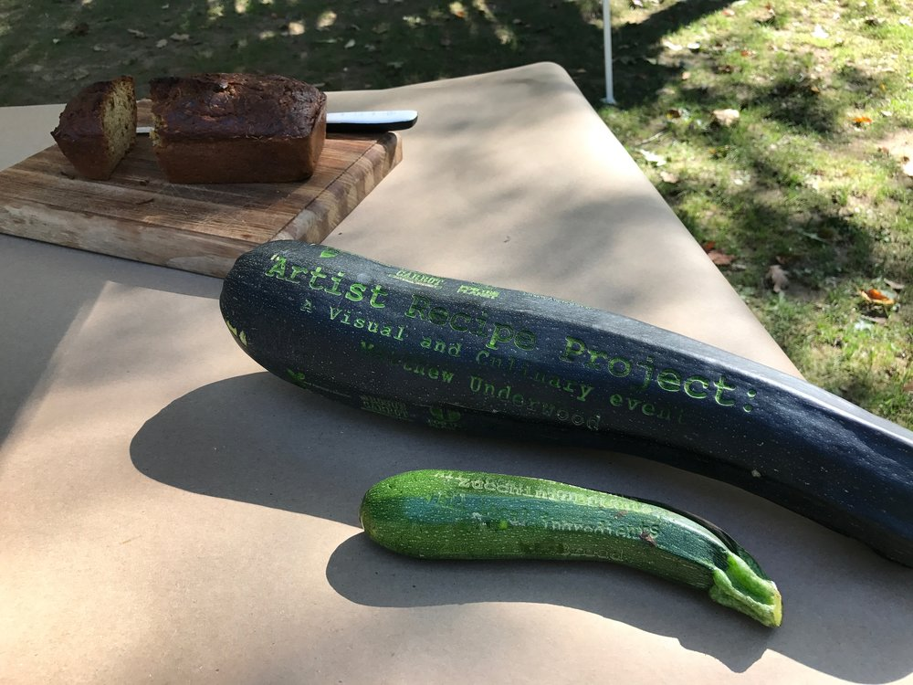 Rotating the zucchini to get the information about the event