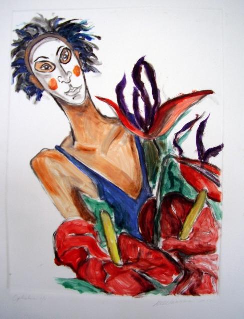 Ophelia in White Mask