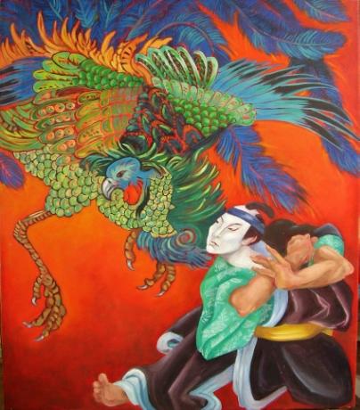 Samurai with Phoenix
