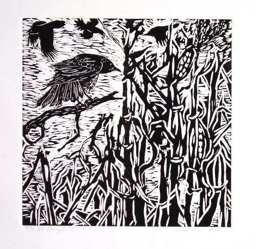 Cornfield with Crows