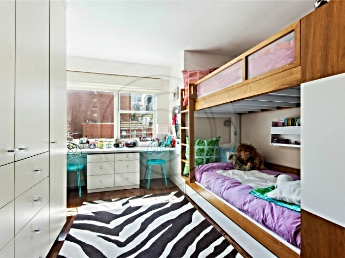 Twin girls bedroom in a lower west side apartment