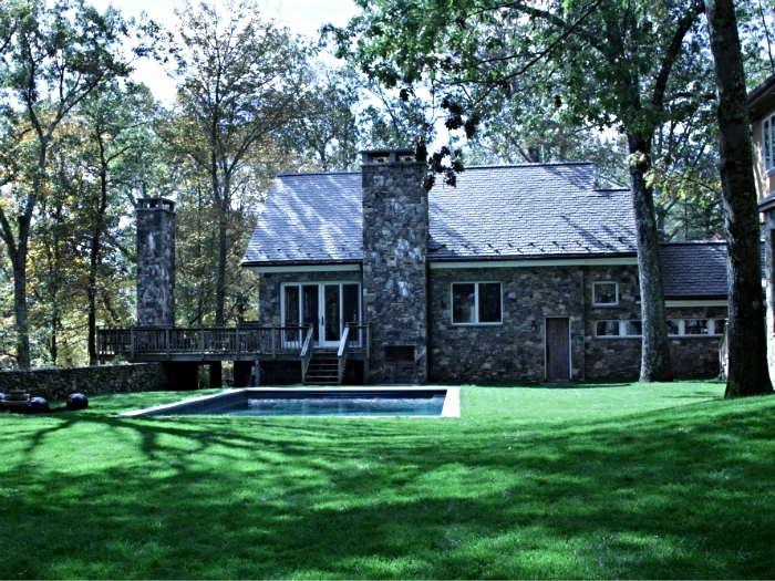Native stone guest house in Bedford, NY