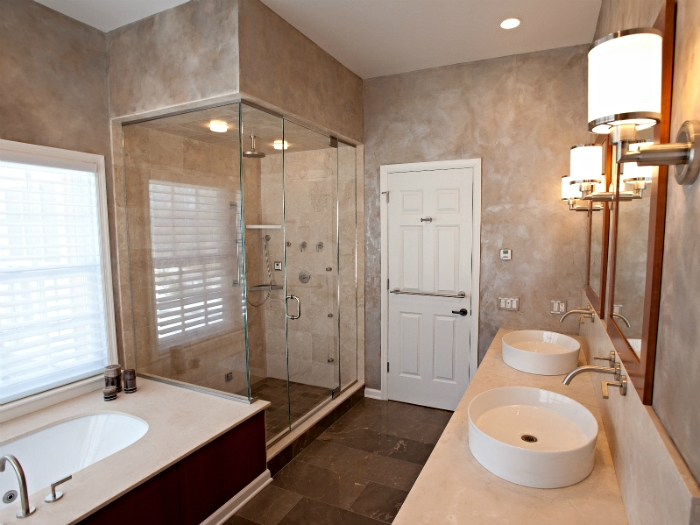 Master Bath in a Bedford, NY home