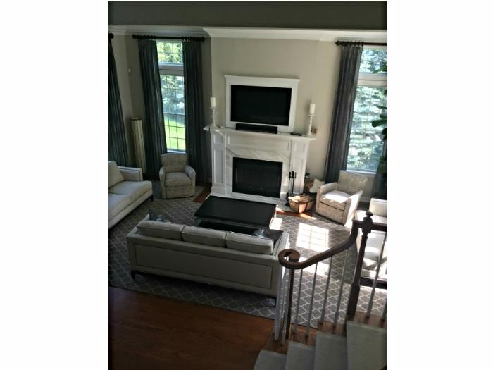 Elegant living room in Irvington, NY