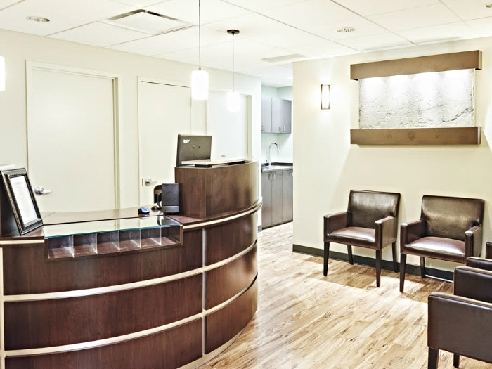 Midtown Manhattan chiropractor waiting room