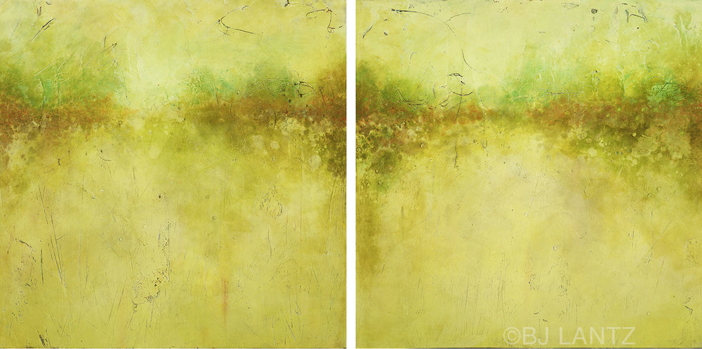 SOLD  • Autumn's End Diptych