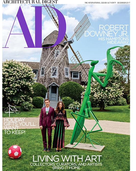 Architectural Digest, December 2017, Robert Downey Jr.