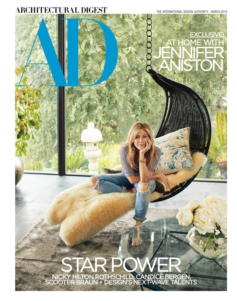 from the issue... Jennifer Aniston, Architectural Digest, photo: Alexi Lubomerski