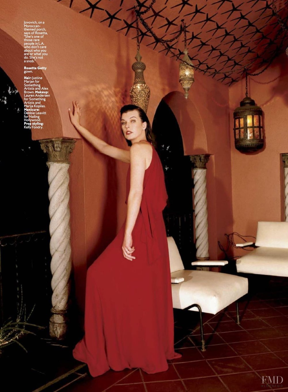 InStyle, Rosetta Getty, Mila Jovovich, photo: Francois Dischinger