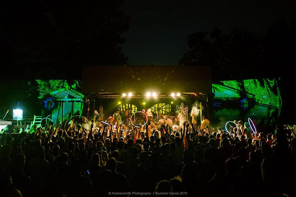 Broccoli Samurai performing at Summerdance Music Festival in Nelson Ledges, OH