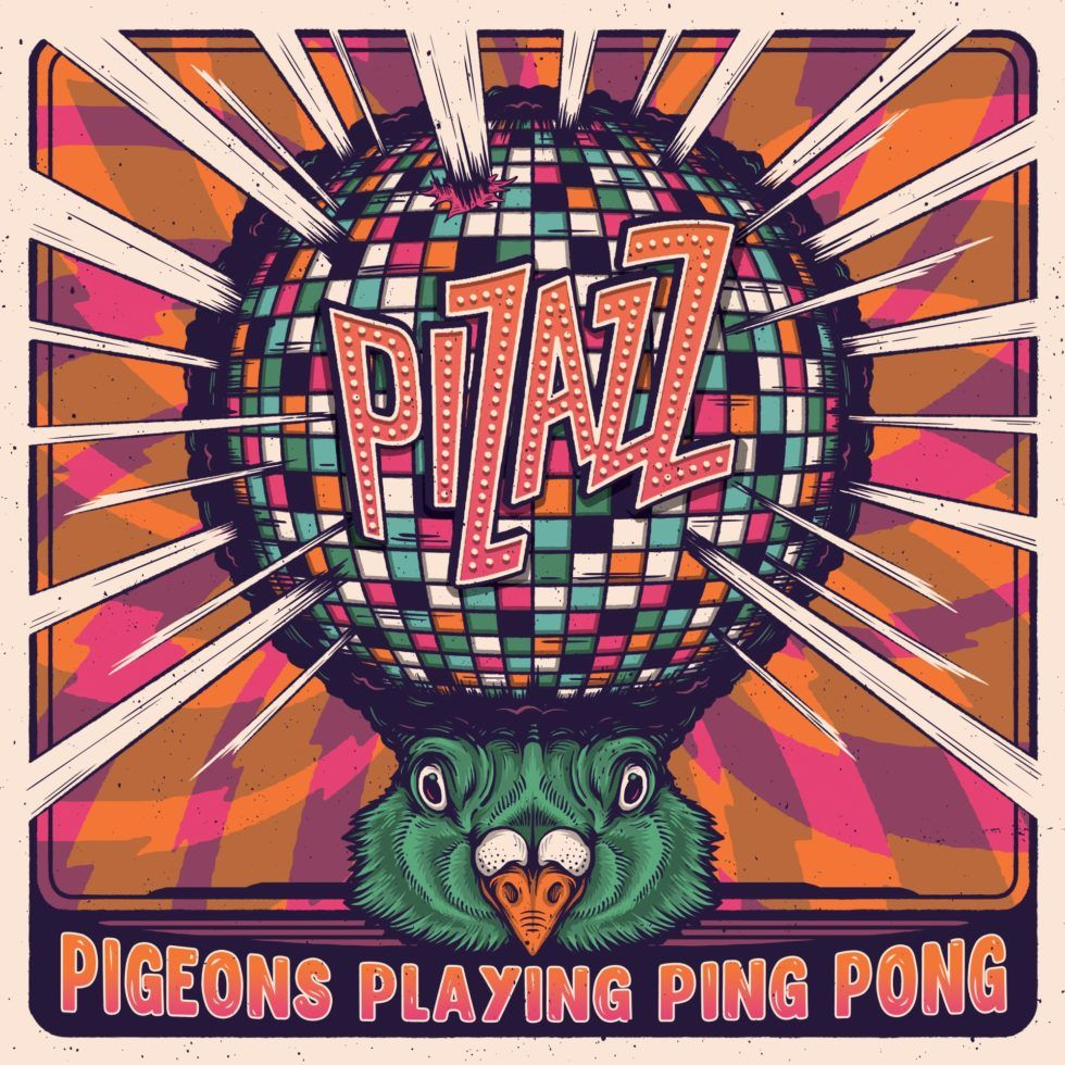 pizazz pigeons playing ping pong