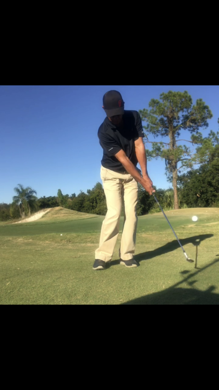 "Pivot - Except for a putt, every swing in golf has pivot… or rotation.  Your forward pivot allows the ""y"" to stay in tact.  If your body pivot/rotation stop, your hands and arms will overtake the action and enhance your changes of wristy and flippy.In my chipping and pitching I work to stay very connected.  Chest, arms, shoulders working together + pivot… to make it all come together for the crisp click of clubface on ball."