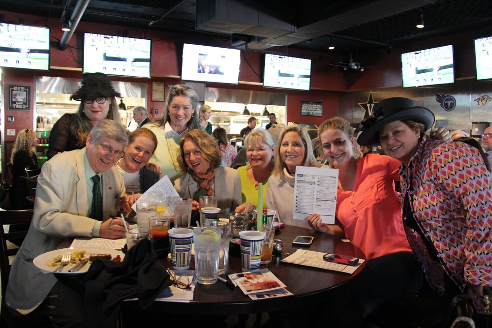 Members of the Hillsboro Hounds enjoy the Cheltenham Watch Party in 2016