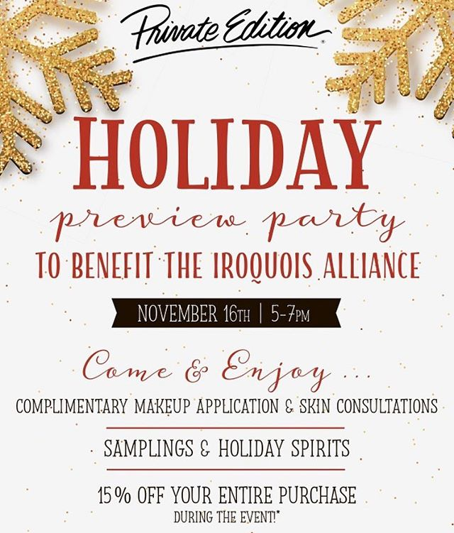 Join us on November 16 at @privateedition Green Hills for our Holiday Preview Party! Part of the proceeds benefit the Iroquois Alliance, +5% of all purchases donated to benefit @vumcchildren #TNSteeplechase