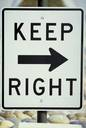 keep-right-sign