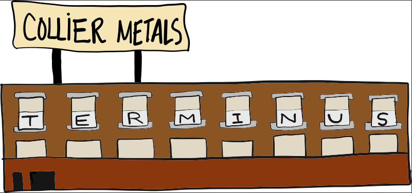 COLLIER METALS (TERMINUS from THE WALKING DEAD)