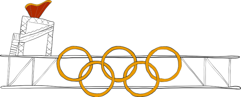 OFFICIAL OLYMPIC TORCH + RINGS