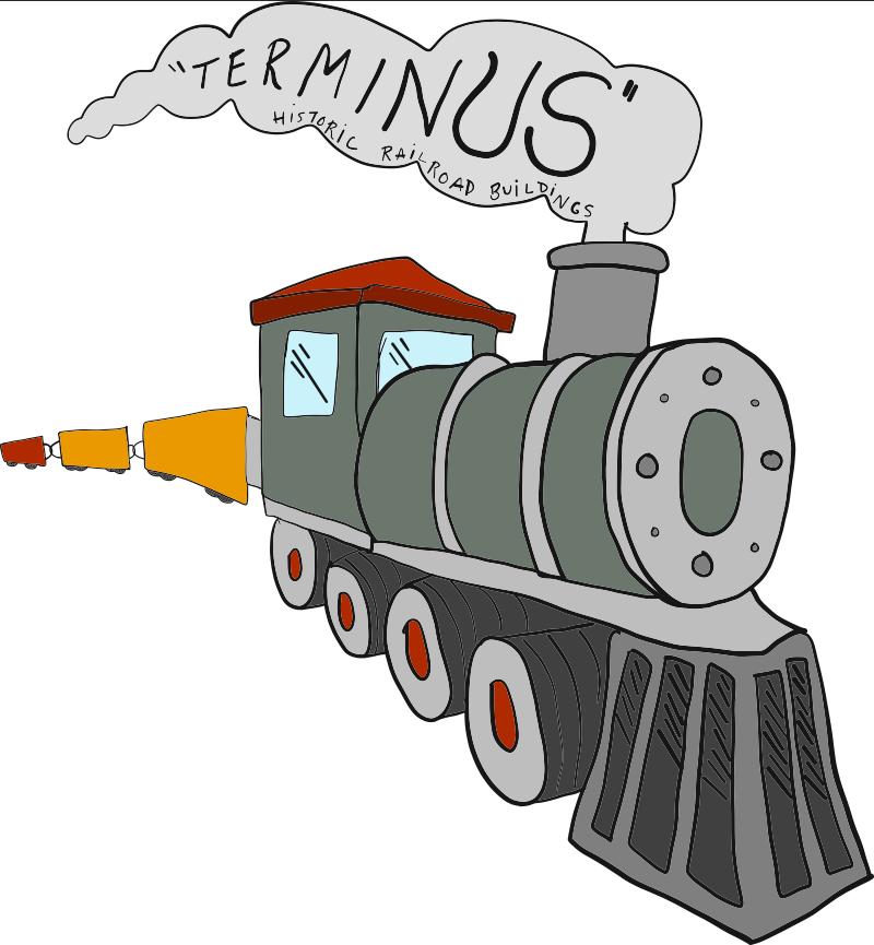 TERMINUS TRAIN + HISTORIC RAILROAD BUILDINGS