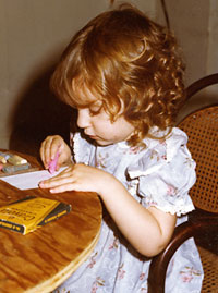 Anna drawing, age 3