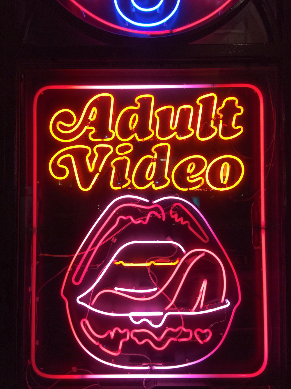 adult video barcelona photographer leandro crespi neon lights woman night.jpg