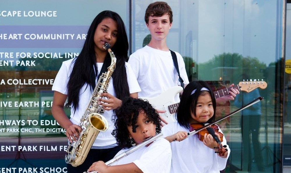 Students at the REgent Park School of Music, Toronto, ON.