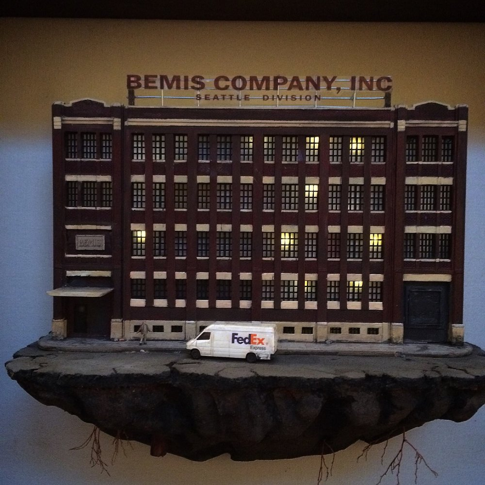 Bemis Building miniature sculpture by Vic Deleon.