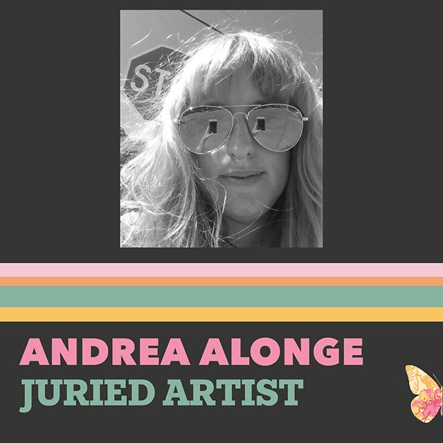 Today's featured artist is Andrea Alonge, a fiber artist based in Seattle. She received her BFA from The School of the Art Institute of Chicago in 2013, and her MFA from Cranbrook Academy of Art in 2015. She combines found textiles, home craft supplies, ribbons, sequins, kitsch decorations and fabrics, expressing ideas of relationships, shared space, and technology in a soft, tactile counter-point to the hard sleek surfaces of the digital world. We can't wait for you to see her work next weekend!