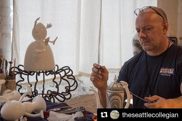 #Repost from @theseattlecollegian ・・・ New article up! We went to the Bemis ARTS spring art show and captured some art and wanted to share what a wonderful space Bemis is for artists in Seattle. Shown here is @dawaglass creating in his studio! Read more, link in bio (under Lifestyle) . . . . . . #bemis #bemisspringartshow2018 #bemisarts #seattle #sodo #art #glass #studio #journalism #seattlecollegian #seattleartist #localart #bemisbuilding